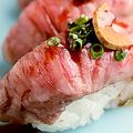 料理メニュー写真仙台牛あぶり寿司