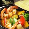 料理メニュー写真マハラジャ海老のごちそうアヒージョ
