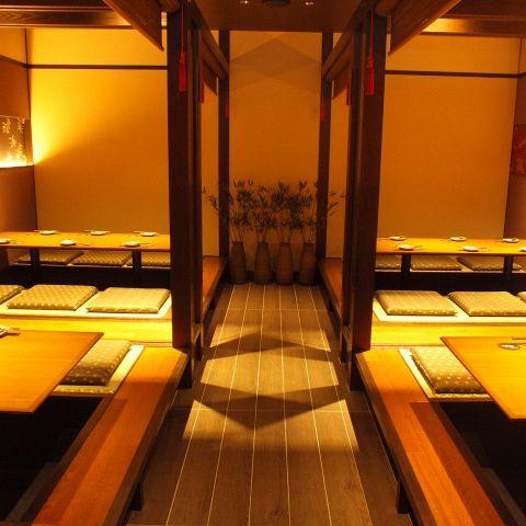 広めの個室は、6名様席をつなげることで最大24名様まではOKです!