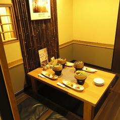 ゆったりと寛げる掘りごたつの完全個室。人気スペースの為、お早めにご予約下さい。