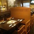 2階のテーブル席。ごゆっくり兵庫漁連の鮮魚をご堪能ください。