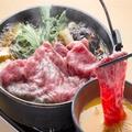 料理メニュー写真特選宮崎安楽牛のすき焼き お一人様(150g)