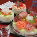料理メニュー写真《要予約》寿司ケーキ (5~6名様用)