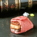 料理メニュー写真和牛の肉寿司