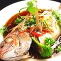 料理メニュー写真高菜とイシモチの煮物