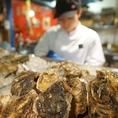 カウンターには新鮮な牡蠣がズラリと並びます♪