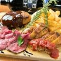 料理メニュー写真自慢のお肉盛り合わせ3種