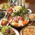 ◆韓国に行きたくなるコース(全10品)3,000円【料理9品+デザート】韓国料理を十分にお楽しみ頂けるコースです。メインはサムギョプサルになります。韓国料理専門店ならではの本場韓国の味をお楽しみくださいませ!楽しさも美味しさも満点のサムギョプサルがメインの当店の魅力がギュッと詰まったお得なコースです♪