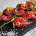 料理メニュー写真希少部位の肉寿司♪