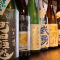 うまい料理にはうまい酒。お客様のお好みに合う焼酎や日本酒を多数ご用意しております。