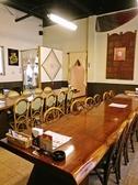 10名様用テーブルと12名様よテーブルは各種宴会・パーティーにもぴったりです。レッツカレーパーティー☆
