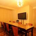 最少8名~最大16名までご利用出来る2FVIPテーブル個室!ご予約必須の人気個室!誰にも会いたくない。プライベートな時間を求めるアナタ!!!にオススメの個室です。
