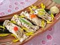 料理メニュー写真炙り湯葉の握り寿司