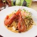 料理メニュー写真ボタン海老のトマトクリームパスタ