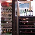 日本酒・ワインは2台のセラーで品質管理しております。