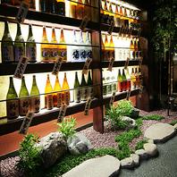 雰囲気自慢♪北海道地酒が並ぶ店内