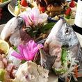 【鮮度抜群の魚が旨い】毎朝市場で仕入れる鮮魚。実は中央市場で働いていた店主。目利きも確かな店主が毎朝市場に出向いて新鮮な魚介類を仕入れ、器用な手さばきで鮮度を落とすことなく調理。その日のおすすめでご提供!本当に旨い魚がここにあります。