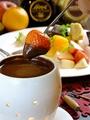 料理メニュー写真チョコレートフォンデュ(1人前)