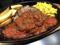 料理メニュー写真ハンバーグトマトカレーソース(150g)