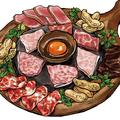 料理メニュー写真炙り肉3種食べ比べ&コールドビーフ3種