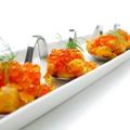 料理メニュー写真サーモンとイクラのスプーンディッシュ