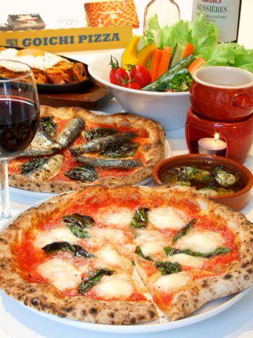 うまい料理をスタイリッシュな空間で気軽に楽しむGOICHI☆人気のピザは980円~