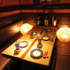 雰囲気の良い個室席。大人数の場合はお早目のご予約をお待ちしております。【町田 居酒屋 飲み放題 個室 海鮮 送別会 歓迎会】