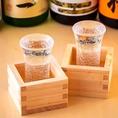 日本酒も多様に取り揃えております