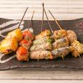 料理メニュー写真やさいの肉巻串焼きオススメ5本盛合せ 塩orタレ