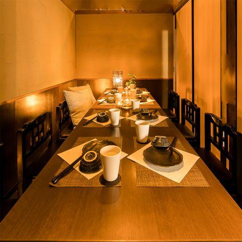 雰囲気抜群のテーブル個室席は最大25名様までのご宴会が可能♪落ち着いてゆったりお寛ぎ頂ける空間になっています★バルの賑やな雰囲気と美味しいお酒で特別な夜をお過ごし下さい。