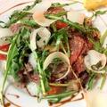 料理メニュー写真オーストラリア産牛ロース肉のタリアータ(200g)