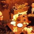 テーブル席で気の合う仲間と宴会もよし