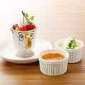 料理メニュー写真チップのフルーツプリン