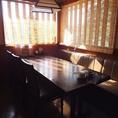 店内奥にあるテーブル席