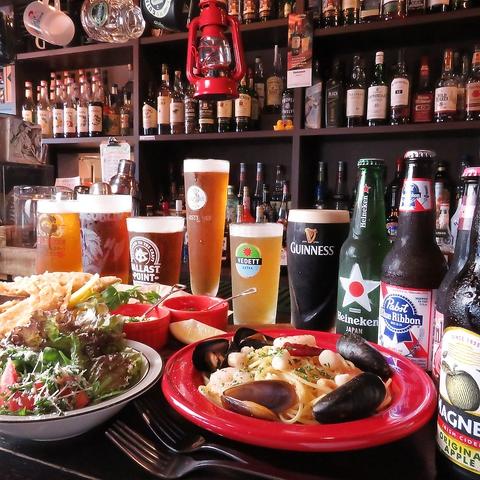異国情緒あふれるバーで港町ならではの新鮮な魚介や地元野菜、世界の珍しいビールを!