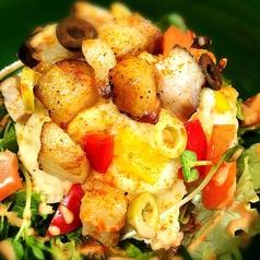 ゴロっと薫製ポークのせポテトサラダ