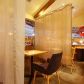 【個室風仕切りOK】2名様~個室感覚で楽しめるテーブル席。
