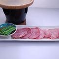 料理メニュー写真牛タン塩焼き柚子胡椒添え