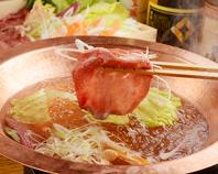 名物【牛たんしゃぶ】吟醸スープにくぐらせて…