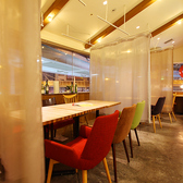 【個室風仕切りOK】4名様~個室感覚で楽しめるテーブル席。