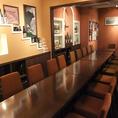 各個室は組み合わせて最大20名様までご利用頂けるんです!各種ご宴会など日本酒カクテルで盛り上がりましょう♪