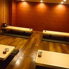 6名様掛けの個室テーブル席もご用意!少人数宴会にはとっておきなお席となっております。