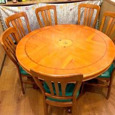 8名様テーブルです。個室にすることも可能です。