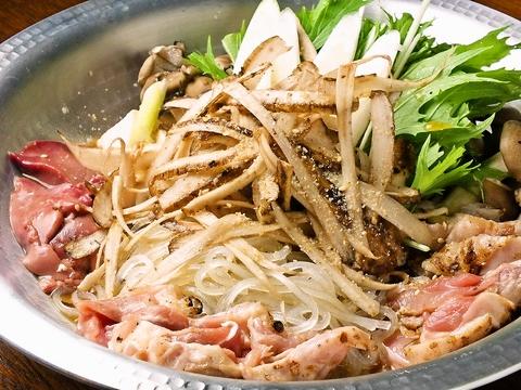 軍鶏すき焼きコースに付いている『軍鶏のすき焼き鍋』を食べて体を温めよう♪♪