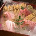 料理メニュー写真特上神戸牛と黒毛和牛の玉手箱