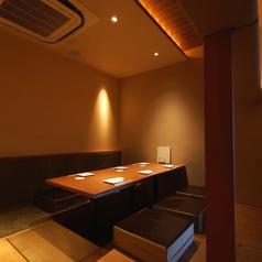 【5~7名様まで】落ち着いてお楽しみいただける個室。人気のため、早めのご予約がおすすめです