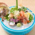 料理メニュー写真特選鮮魚四種盛り合わせ 一人前