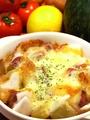 料理メニュー写真さつま芋ともちのチーズ焼きハニーバターで