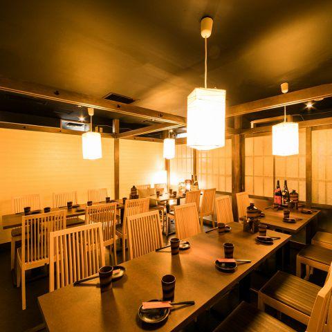 テーブル個室は最大25名までの宴会可能です◎大型宴会はもちろん、同窓会やご接待・ご会食の席にも最適です。静かなお席で会話をすすめたい方やワイワイ過ごしたい方など、ご利用シチュエーションは様々です☆