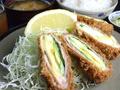 料理メニュー写真アスパラとチーズ巻き定食